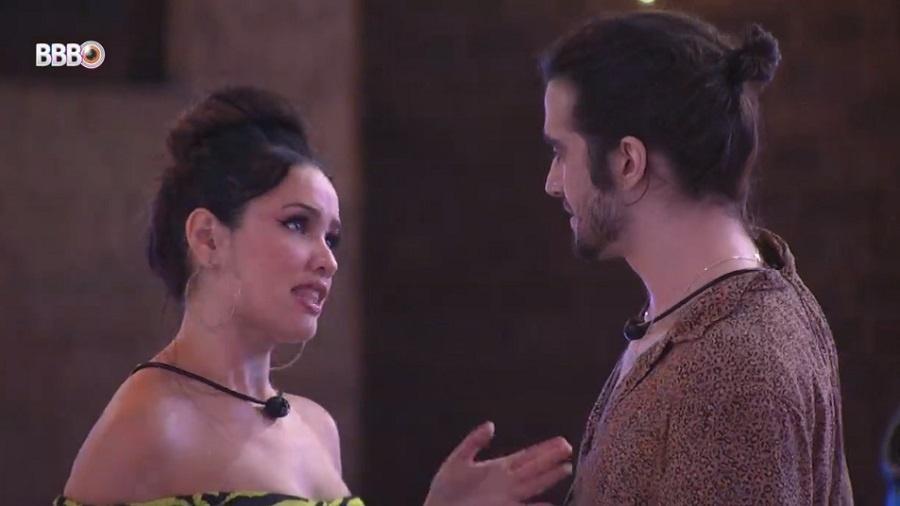 BBB 21: Juliette e Fiuk brincam de sedução em festa top 8 - Reprodução/Globoplay