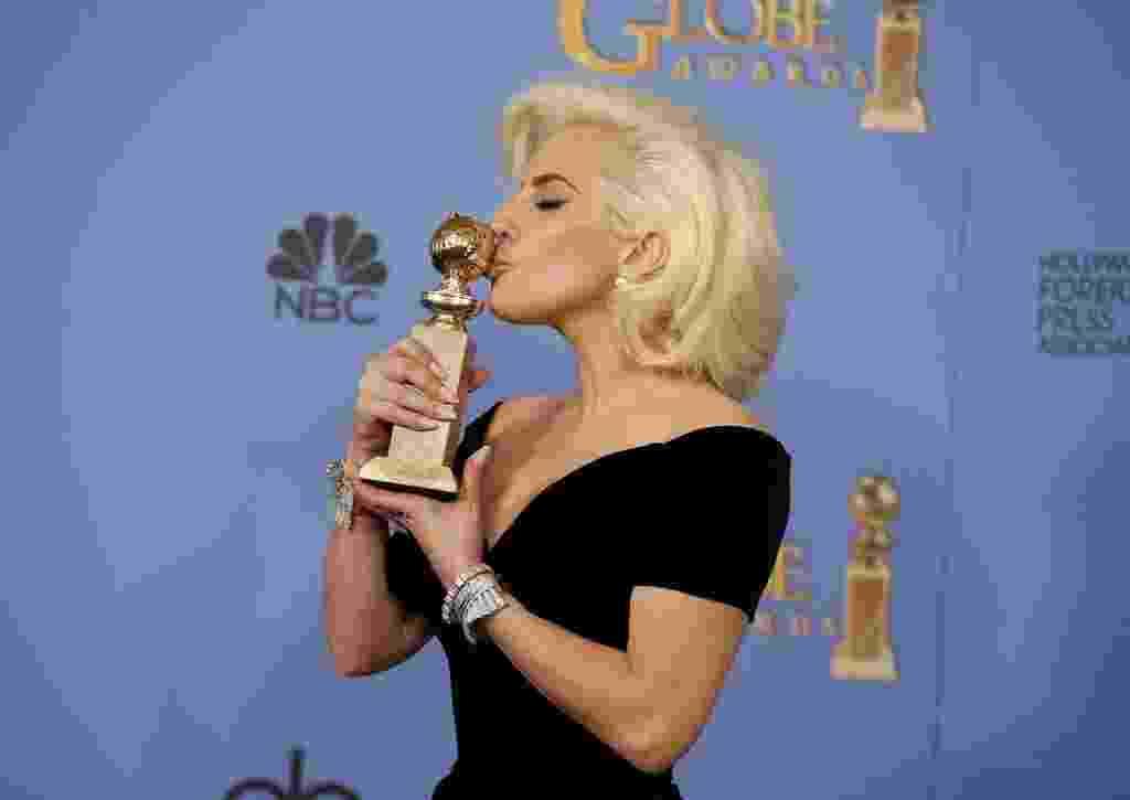 10.jan.2016 - Lady Gaga no Globo de Ouro 2016 - REUTERS