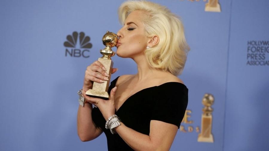 """Lady Gaga no Globo de Ouro 2016, quando foi premiada por sua atuação na série """"American Horror Story"""" - Reuters"""