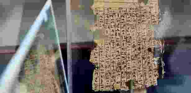 Papiro remonta à época do faraó Keops, que reinou no Antigo Egito há mais de 4.500 anos - Xinhua/Zhao Dingzhe - Xinhua/Zhao Dingzhe