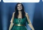 De vestido verde, Laura Pausini se apresenta no Rio - Roberto Filho/Brazil News