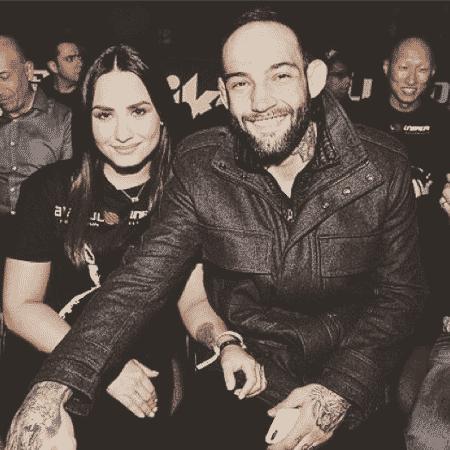 """Demi Lovato e o namorado, o lutador brasileiro Guilherme """"Bomba"""" Vasconcelos - Reprodução/Instagram"""