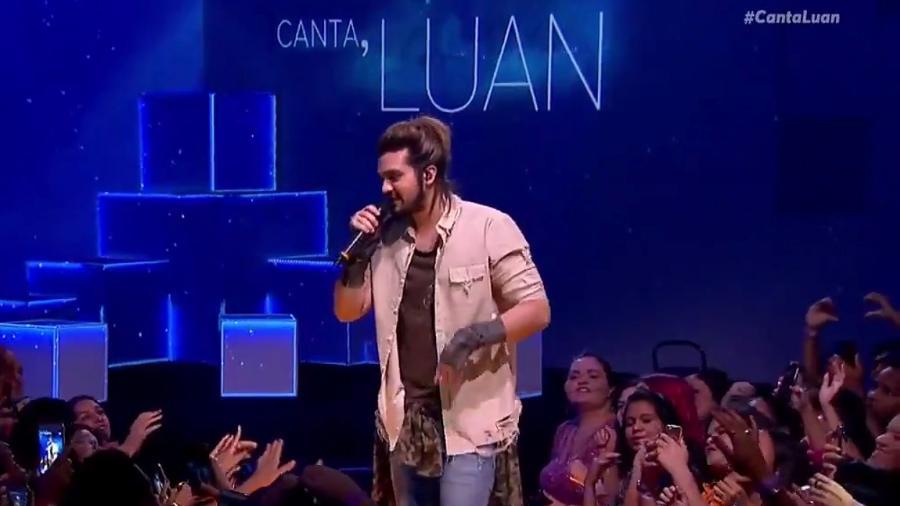 """Luan Santana canta Backstreet Boys e Justin Bieber no """"Canta, Luan"""" - Reprodução"""