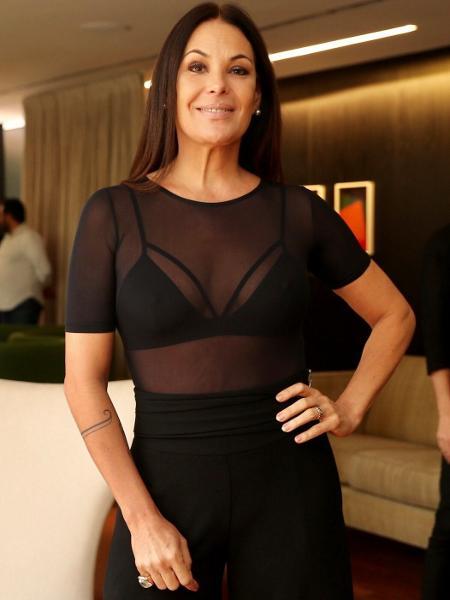 Carolina Ferraz prestigia evento em São Paulo com look transparente - Manuela Scarpa/Brazil News?