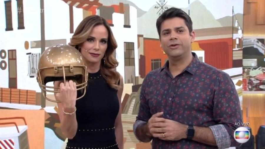 Ana brincou com o fato de ter levado uma pancada de Marcelo Adnet - Reprodução/TV Globo