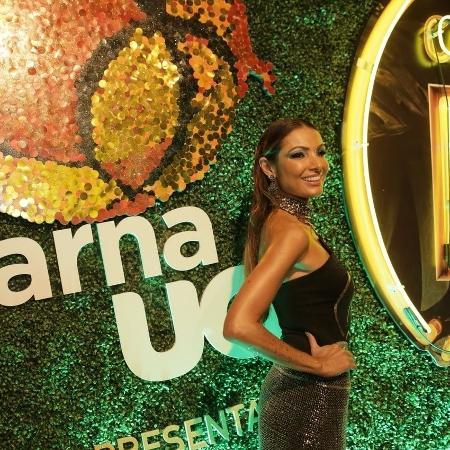 A apresentadora Patricia Poeta curte camarote CarnaUOL RJ/N1 - Gianne Carvalho/UOL