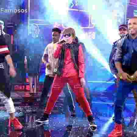"""Naiara Azevedo interpreta Justin Bieber no """"Show dos Famosos"""" - Reprodução/TV Globo - Reprodução/TV Globo"""