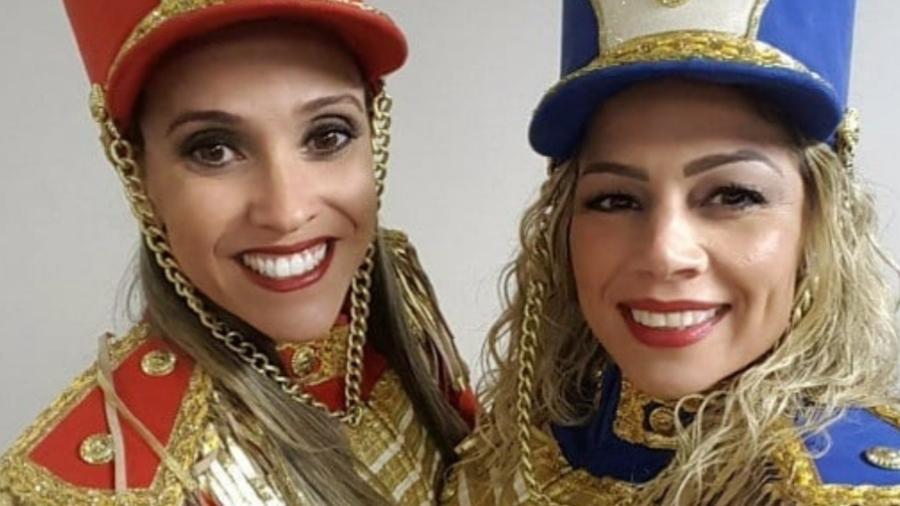 Priscilla Couto e Catia Paganote se apresentam juntas em festas dos anos 80 caracterizadas de paquitas - Arquivo Pessoal