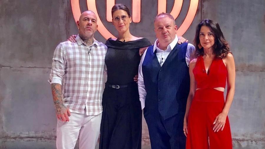 """Jurados e Ana Paula Padrão no """"MasterChef Brasil"""" - Reprodução/Instagram"""