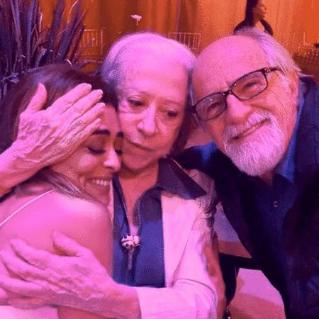 Juliana Paes, Fernanda Montenegro e Ary Fontoura - Reprodução/Instagram