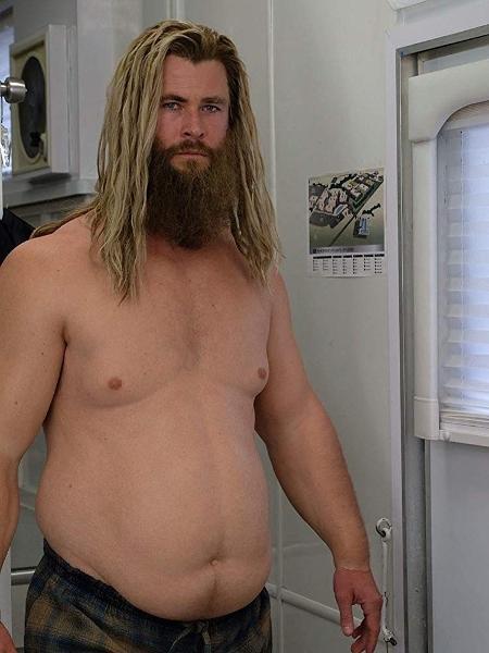 """Chris Hemsworth como o Thor barrigudo de """"Vingadores: Ultimato"""" - Divulgação"""