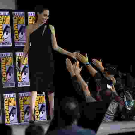 Angelina Jolie no painel da Marvel para falar de Os Eterno na San Diego Comic Con - Chris Delmas / AFP - Chris Delmas / AFP