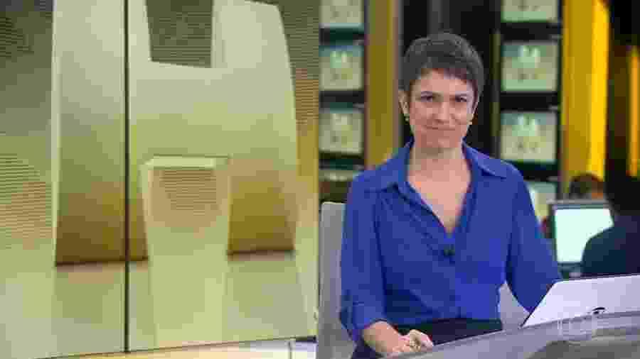 Sandra Annenberg durante a sua despedida do Jornal Hoje - Reprodução/TV Globo