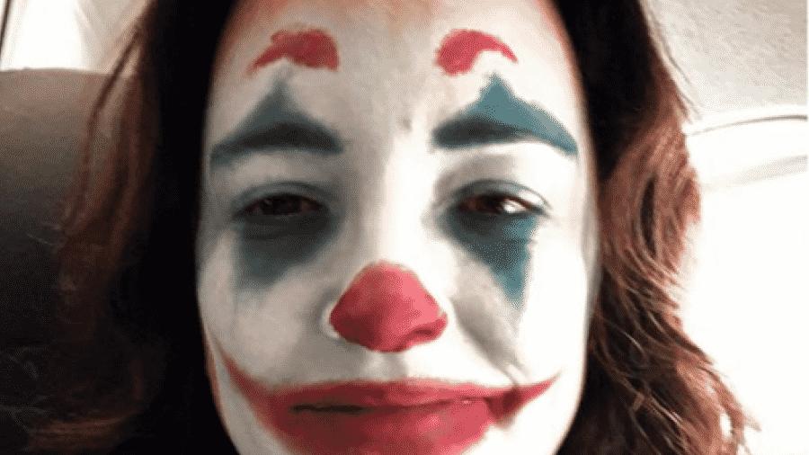 A cantora Ana Carolina usa filtro do Coringa - Reprodução/Instagram
