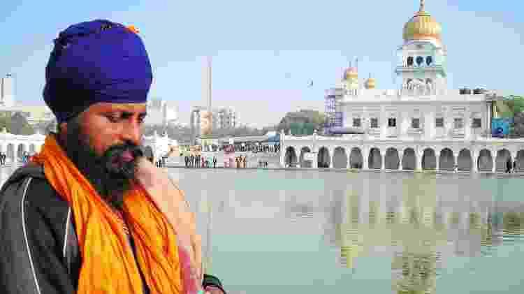 Homem sikh em Nova Delhi - Marcel Vincenti/Arquivo pessoal - Marcel Vincenti/Arquivo pessoal