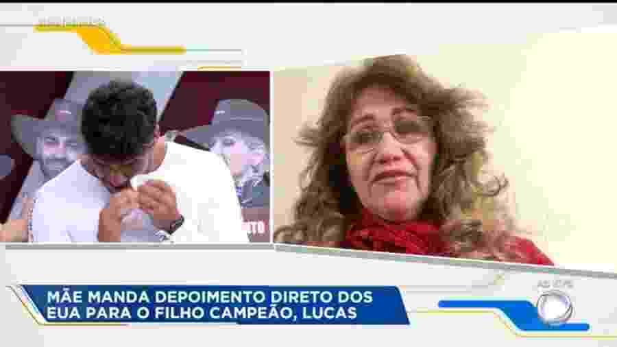 Lucas Viana recebe mensagem de mãe no programa Hoje em Dia - Reprodução/Playplus