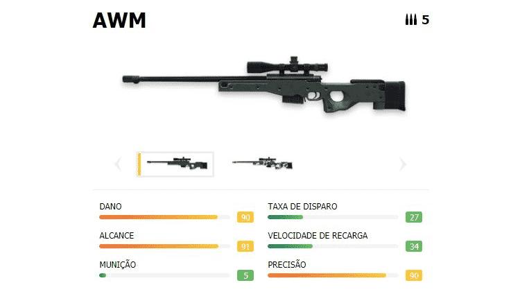 Free Fire AWM 1 - Reprodução - Reprodução
