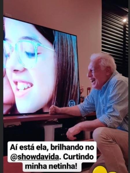 Antonio Fagundes elogia atuação de Valentina Vieira, 11 anos - Reprodução/ Instagram