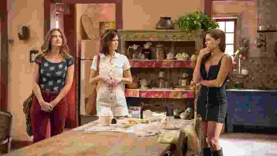 Luna/Fiona (Juliana Paiva), Kyra/Cleyde (Vitória Strada) e Alexia/Josimara (Deborah Secco) - Globo/Camilla Maia