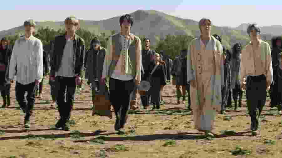 """Cena do clipe """"ON"""", do BTS - Reprodução/YouTube"""