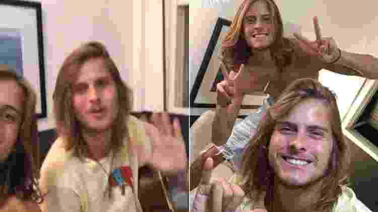 Daniel Lenhardt e o irmão, Tadeu Lenhardt (de camiseta amarela) - Reprodução/Instagram - Reprodução/Instagram