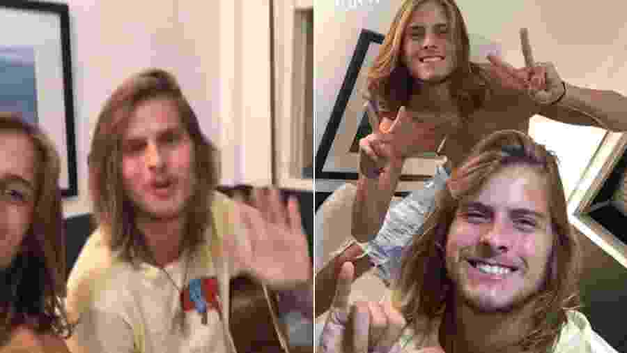 Daniel Lenhardt e o irmão, Tadeu Lenhardt (de camiseta amarela) - Reprodução/Instagram