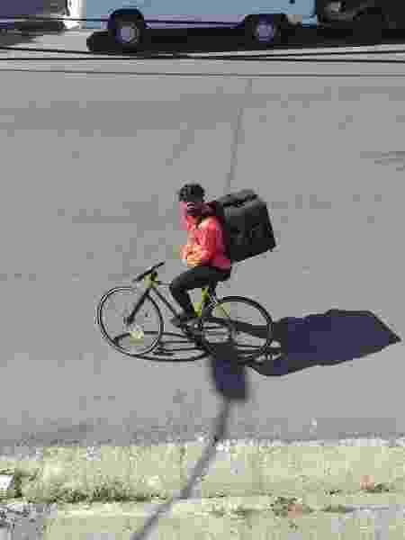 Terezinha Barreto, ciclista do coletivo Malungada e entregadora  - Arquivo Pessoal