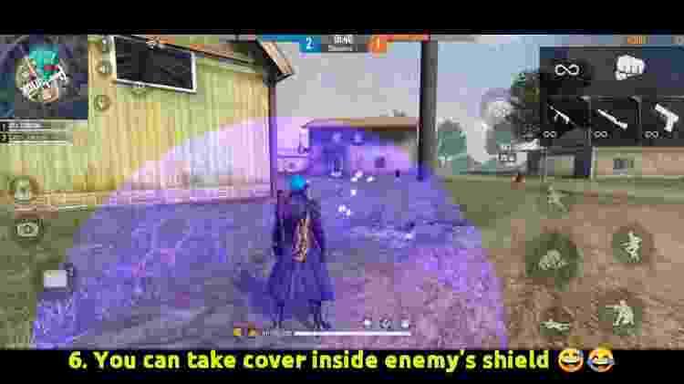 Free Fire A habilidade do Chrono só serve para ele seus aliados. - Reprodução/Youtube/BrOkEn JoYsTiCk - Reprodução/Youtube/BrOkEn JoYsTiCk