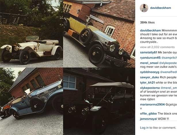 Astro do futebol David Beckham expõe parte de sua coleção no Instagram - Instagram