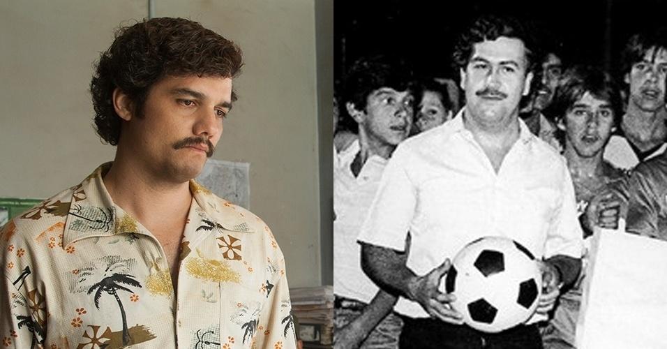"""Wagner Moura é Pablo Escobar em """"Narcos"""""""