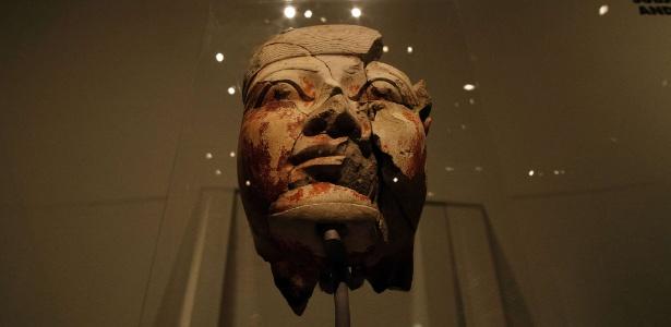 """5.out.2015 - Detalhe da exposição """"Ancient Egypt Transformed: The Middle Kingdom"""", que começa no museu Metropolitan de Nova York (Met) na próxima segunda-feira (12) - AFP PHOTO/JEWEL SAMAD"""