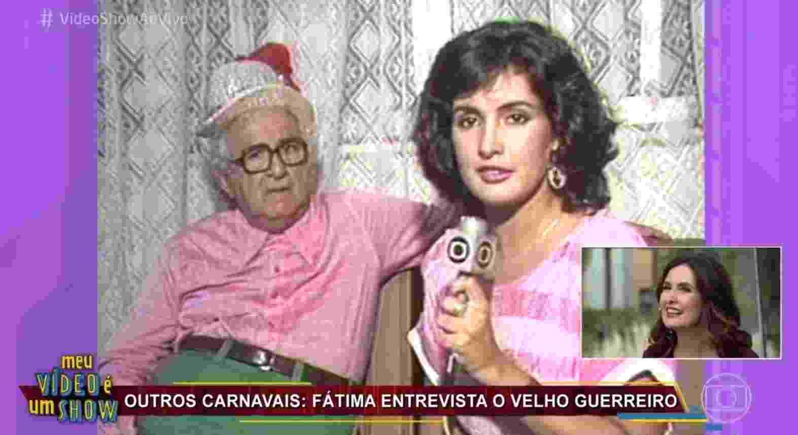 """Fátima Bernardes participa do """"Vídeo Show"""" e revê matérias antigas da carreira - Reprodução/TV Globo"""