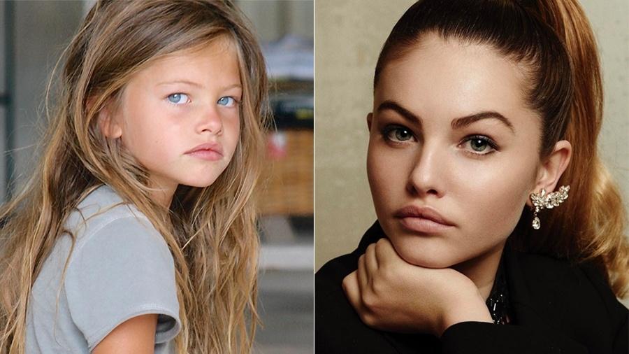 Thylane Blondeau aos 4 anos e agora, aos 16 - Reprodução/Instagram
