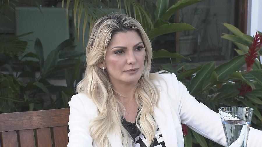 """Antonia Fontenelle participa do programa """"Gugu"""" e diz por que levou adiante briga na Justiça com filhas de Marcos Paulo - Divulgação/Record TV"""