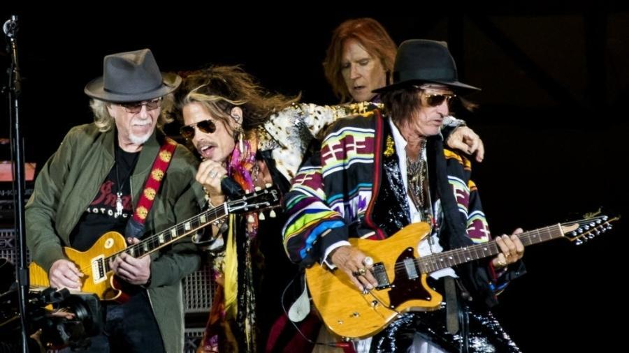 Aerosmith faz o show principal da terceira noite de São Paulo Trip, no Allianz Parque - Mariana Pekin/UOL