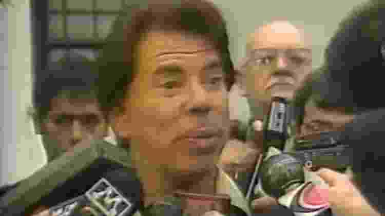 Silvio Santos fala sobre impugnação de candidatura à Presidência, em 1989 - Reprodução - Reprodução