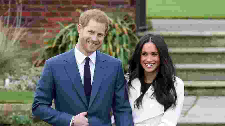 Príncipe Harry e Meghan Markle anunciam seu noivado nos jardins do palácio de Kensington - Getty Images