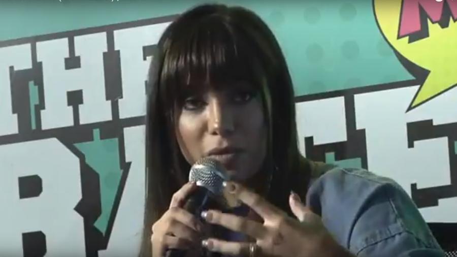 """Anitta deu uma entrevista ao programa """"The Bate Boca"""", da rádio Mix FM - Reprodução/Youtube"""