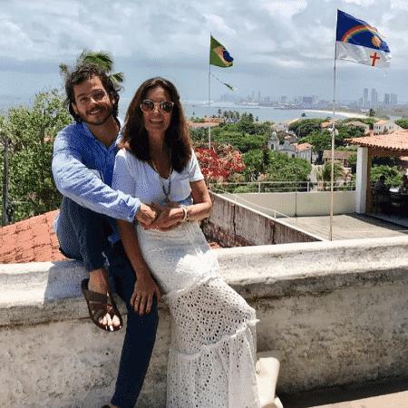 Fátima Bernardes e Túlio Gadêlha em Olinda - Reprodução/Instagram/fatimabernardes