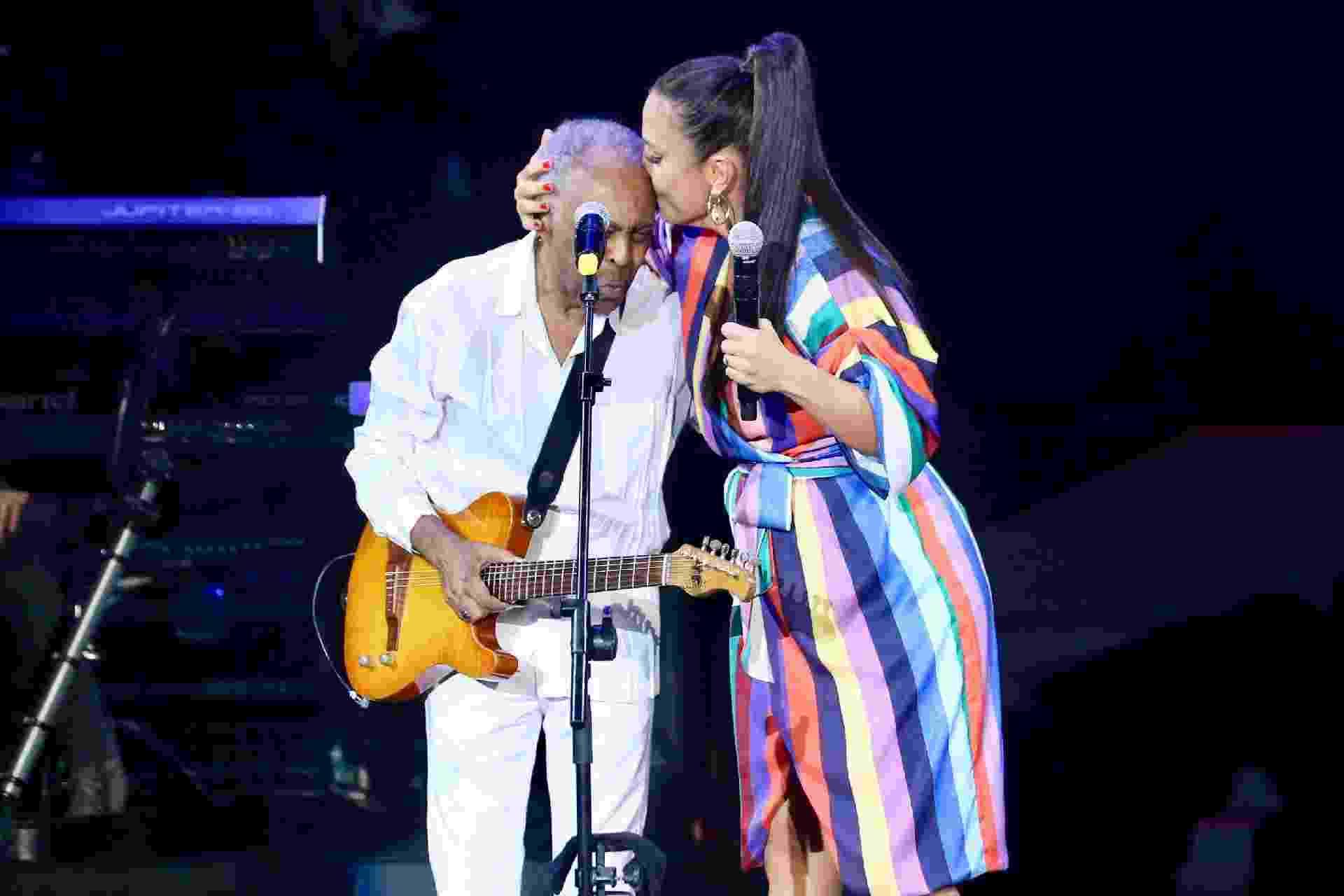 Ivete Sangalo e Gilberto Gil em inauguração de novo espaço no Allianz Parque, em São Paulo - Manuela Scarpa/Brazil News