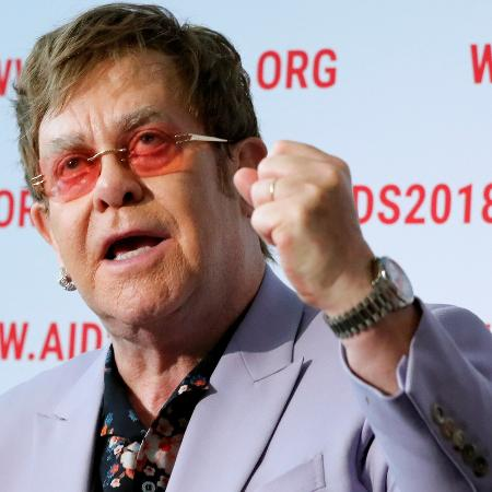 O cantor Elton John falou durante a 22ª Conferência Internacional de Aids, em Amsterdã, nesta terça (24) - Yves Herman/Reuters