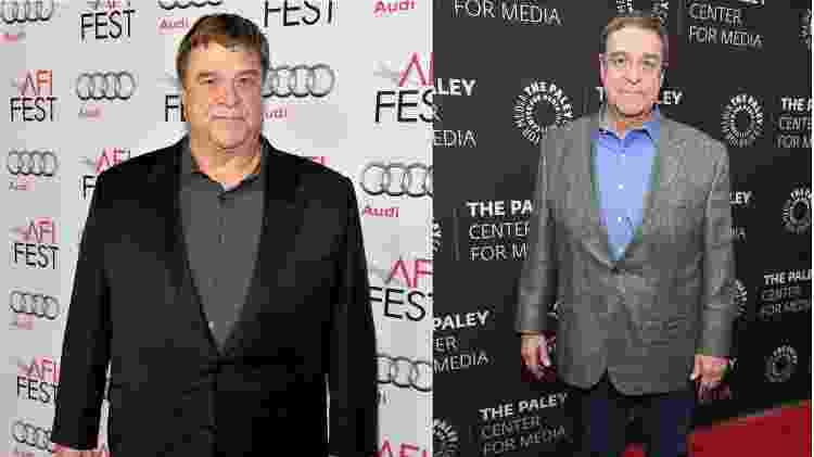 John Goodman em foto de 2013 (esq.) e em retrato de 2018 - Frazer Harrison e Dimitrios Kambouris/Getty Images - Frazer Harrison e Dimitrios Kambouris/Getty Images