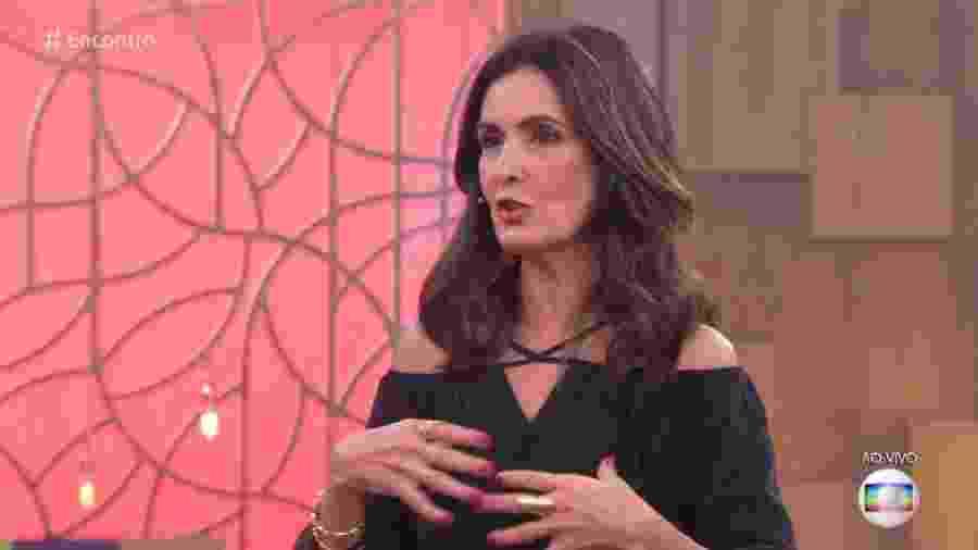 """Fátima Bernardes apresenta o """"Encontro"""", da TV Globo, há 7 anos - Reprodução/Globo"""