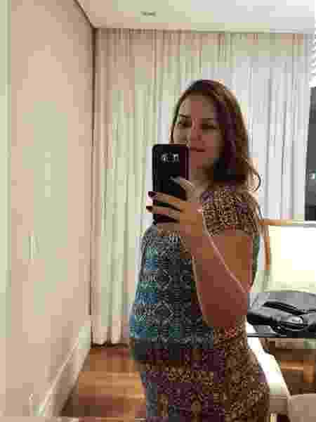 Na 27ª semana de gravidez, Fabiana Mariz Moreira, 41, foi diagnosticada com colestase gravídica - Arquivo Pessoal