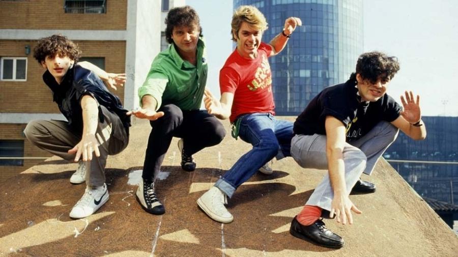 Carlinhos, Leôspa, Roger e Maurício posam em 1986 - Renato dos Anjos