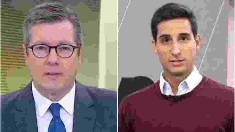 Márcio Gomes (à esq.) e Murilo Salviano (à dir.) - Reprodução/TV Globo/GloboNews Montagem/UOL