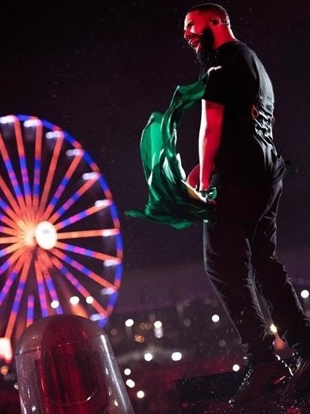 Drake no Rock in Rio - Theo Skudra/Reprodução Instagram @champagnepapi