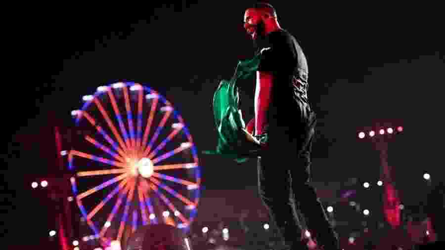 Drake, em apresentação no Rock in Rio 2019 - Theo Skudra/Reprodução Instagram @champagnepapi