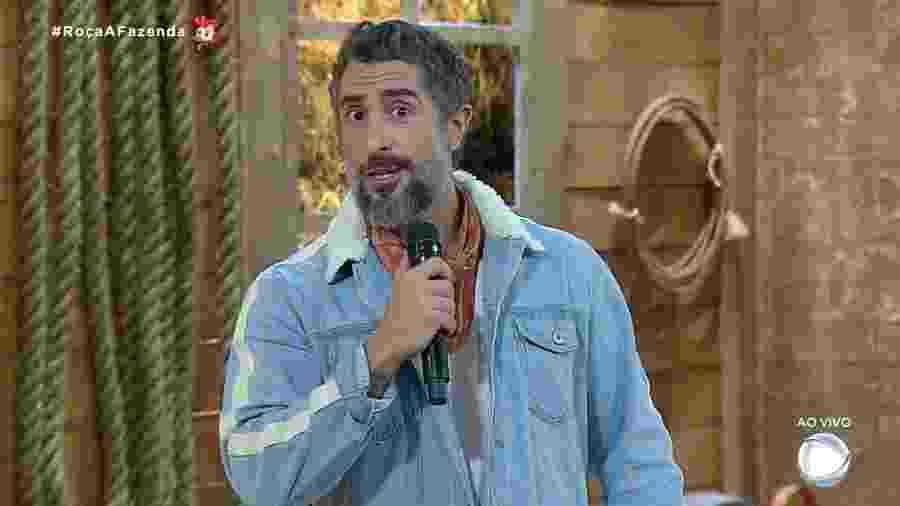 Marcos Mion apresenta noite de formação da roça em A Fazenda 2019 - Reprodução/RecordTV