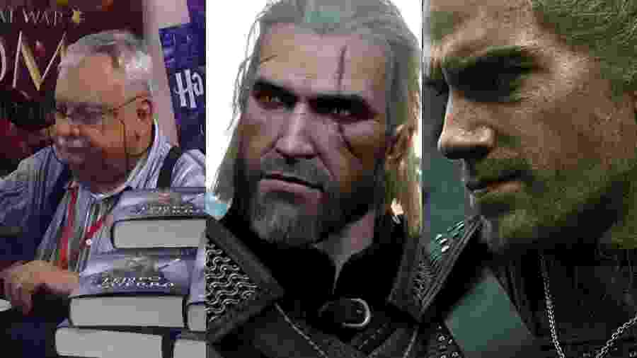 Universo de The Witcher começou na imaginação de Andrzej Sapkowski, e foi parar nos games e na Netflix - Alessio Sbarbaro/Creative Commons/Reprodução/Divulgação/Netflix/Montagem UOL